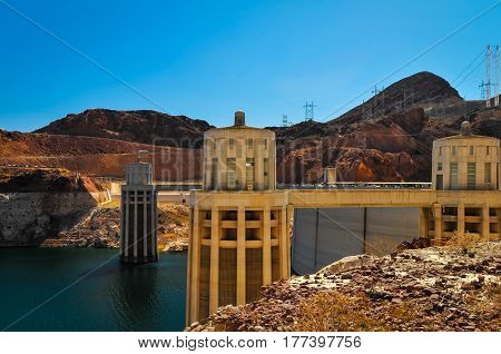 The Hoover Dam generators to provide power