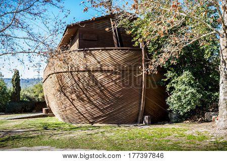 JERUSALEM, ISRAEL - JANUARY 23: The Noah's Ark at the Biblical Zoo in Jerusalem, Israel on January 23, 2017