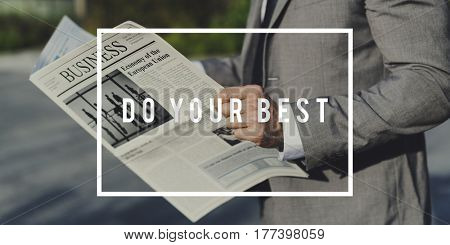 Do Your Best Motivation Quote Message