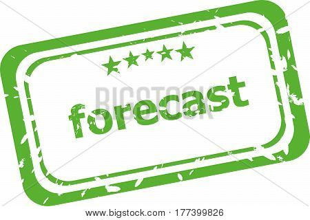 Forecast Stamp Sign Text Word Logo Isolated On White