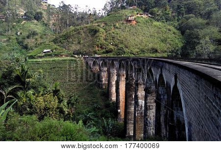 NIne Arch railway bridge near Ella in Sri Lanka