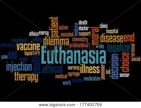 Euthanasia, Word Cloud Concept 5