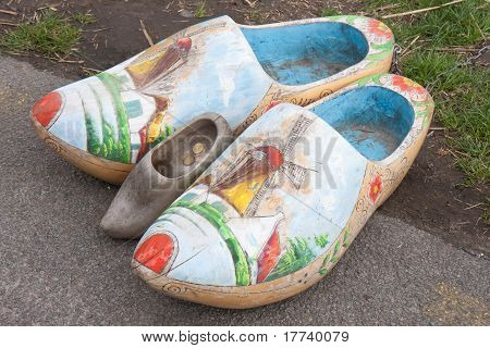 Enormous Wooden Shoos As A Touristic Attraction