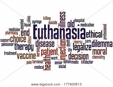 Euthanasia, Word Cloud Concept 6