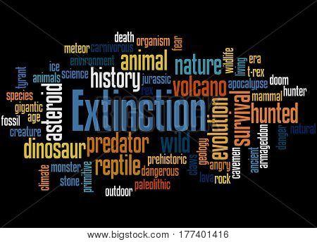 Extinction, Word Cloud Concept 3