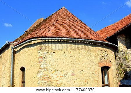 Medieval fortified saxon church in Calnic, Transylvania. medieval fortified saxon church in Calnic, Transylvania