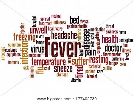 Fever, Word Cloud Concept 2