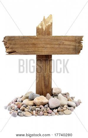 the cross of Jesus Christ on a white background