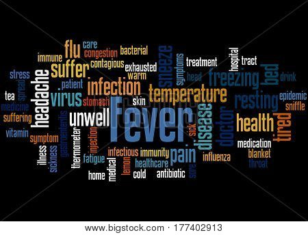 Fever, Word Cloud Concept 4