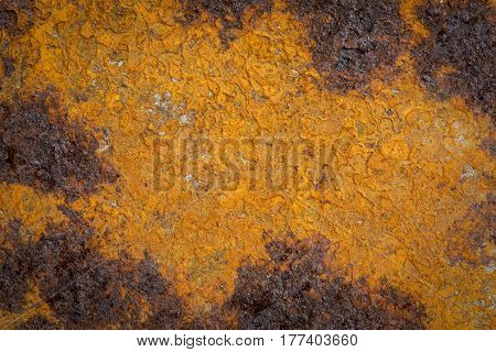 texture background of grunge, rusty iron with dark stains