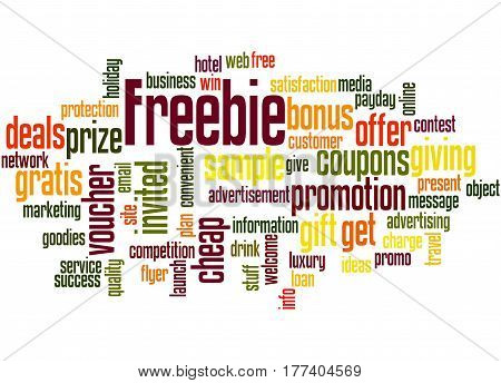 Freebie, Word Cloud Concept 4