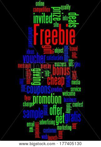 Freebie, Word Cloud Concept 9