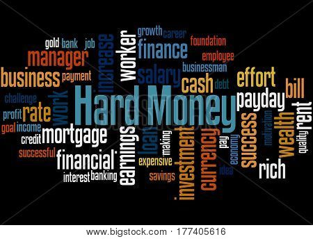 Hard Money, Word Cloud Concept 2