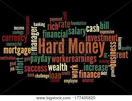 Hard Money, Word Cloud Concept 4