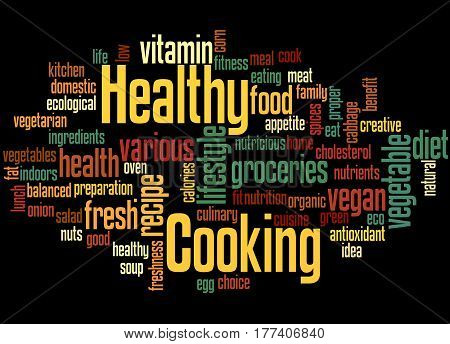Healthy Cooking, Word Cloud Concept 5