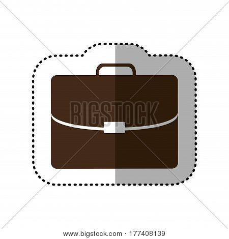 brown business suitcase icon image, vector illustration design