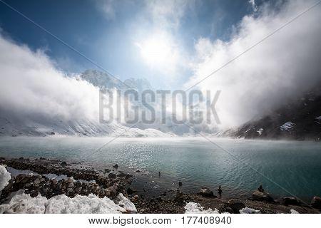 View To Gokyo Lake In Everest Region, Nepal