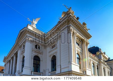Opera theater in the center of  Zurich Switzerland
