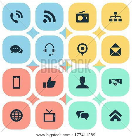 Vector Illustration Set Of Simple Transmission Icons. Elements Structure, Wave, Talking And Other Synonyms Pin, Tv And Wave.