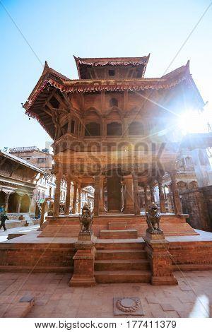 Beautiful view of the Bhaktapur city before earthquake Nepal