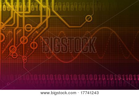Futuristic Technology Data Flow as Art Abstract poster