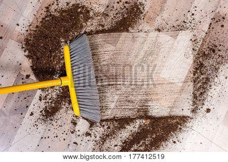 Broom Sweeping Floor