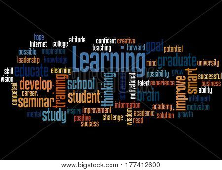 Learning, Word Cloud Concept
