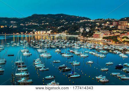 Lerici City In Summer, Ligurian Province, Italy.