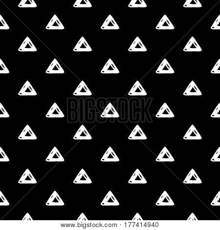Abstract triangle pattern with hand drawn triangles. Cute vector black and white triangle pattern. Seamless monochrome doodle triangle pattern for fabric, wallpapers, wrapping paper and cards.