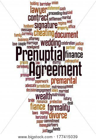 Prenuptial Agreement, Word Cloud Concept 6