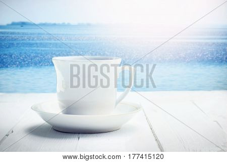 Cup Of Tea On White Table