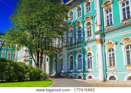 Hermitage Palace In Saint Petersburg, Russia