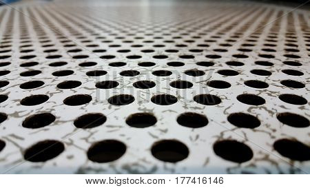 Perforated Airflow Panel or server room and background