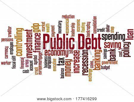 Public Debt, Word Cloud Concept
