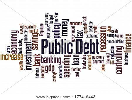 Public Debt, Word Cloud Concept 2
