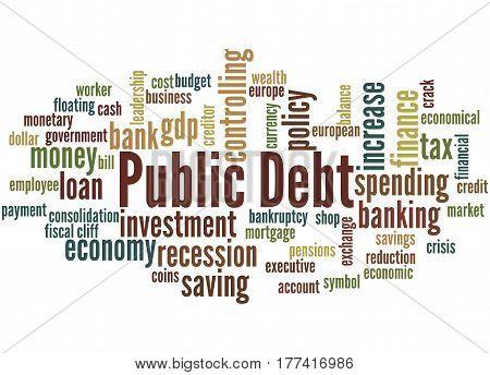 Public Debt, Word Cloud Concept 7