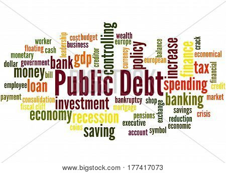 Public Debt, Word Cloud Concept 8