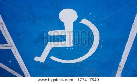 Disabled symbol and icon background icon .