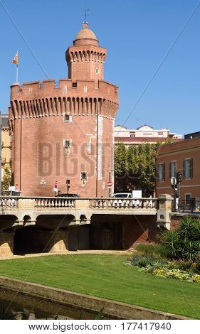View of the Castellet of Perpignan, France