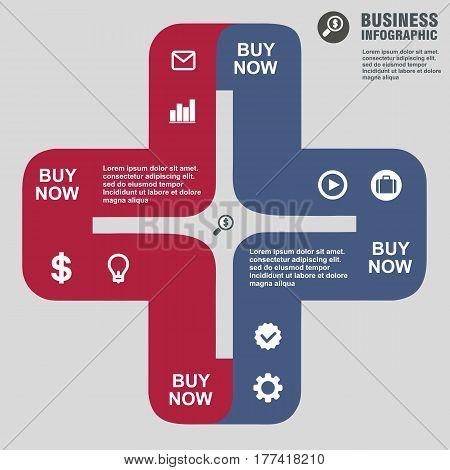 Conceptual Vector Design Template. Infographics Element
