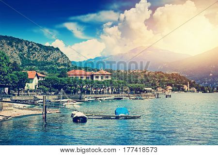 Como Lake And Alpine Mountains