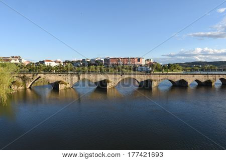 View of the Bridge of Mirandela Alto Douro Portugal