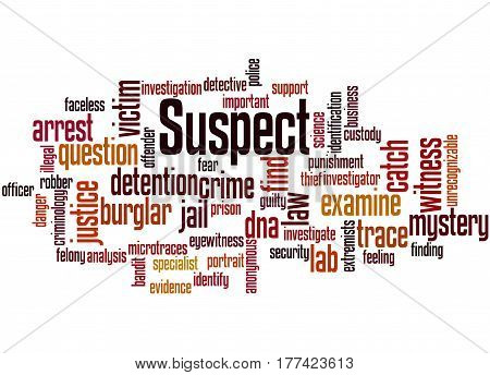 Suspect, Word Cloud Concept 2
