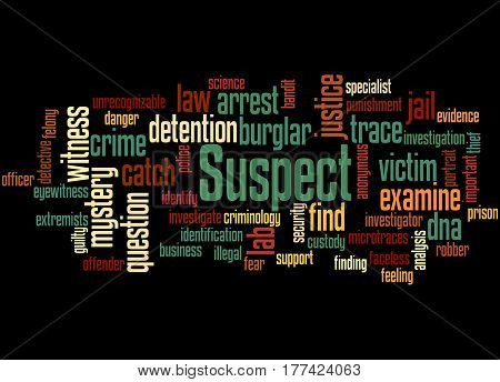 Suspect, Word Cloud Concept 4