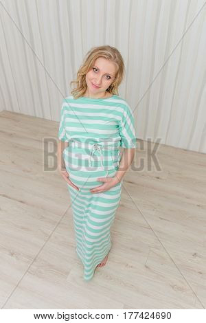 Beautiful Pregnant Girl Waiting For The Baby