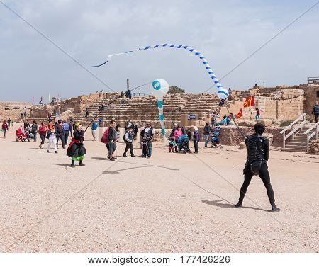 Participants Of Festival Show A Show With Kites
