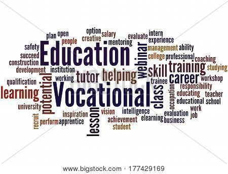 Vocational Education, Word Cloud Concept 2
