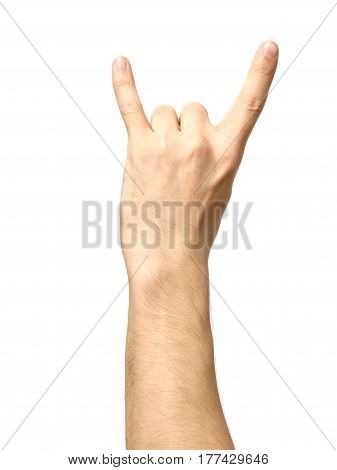 Hand Giving The Devil Horns Gesture