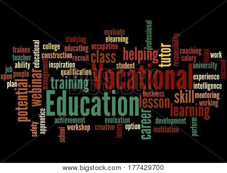 Vocational Education, Word Cloud Concept 4