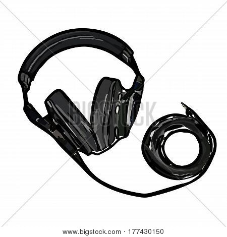 full-size monitor headphones with long wire great sound